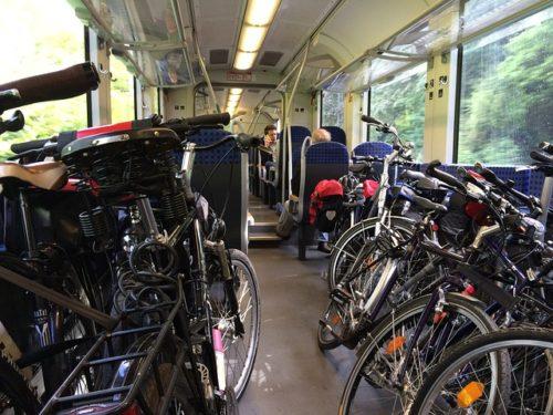 自転車 電車