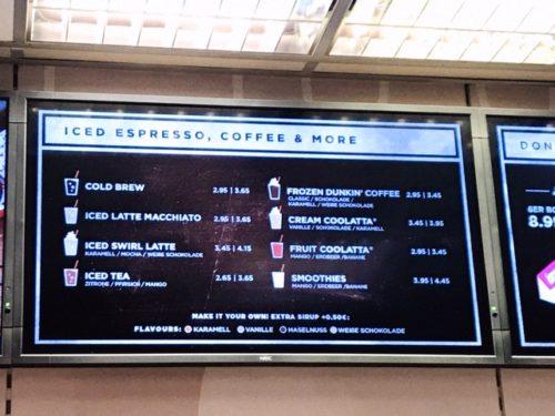 ドイツ コーヒー メニュー